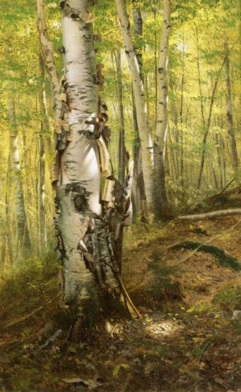 Silver Birches | John George Brown | oil painting