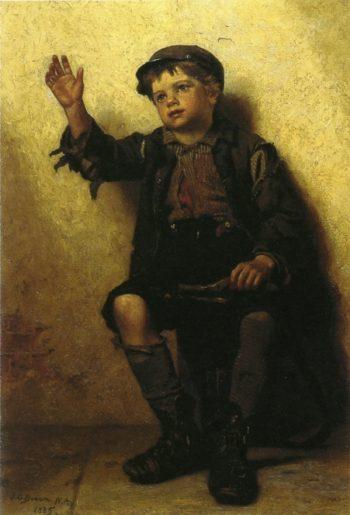 Shoeshine Boy | John George Brown | oil painting