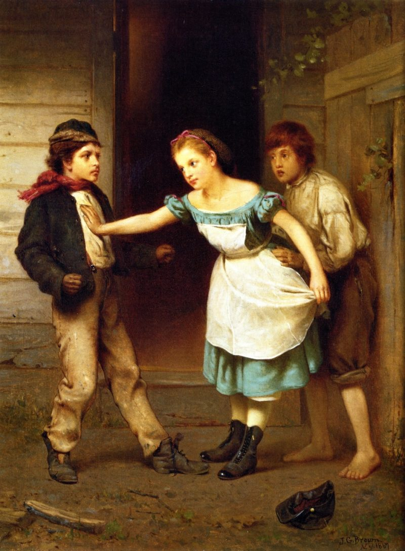 The Peacemaker   John George Brown   oil painting