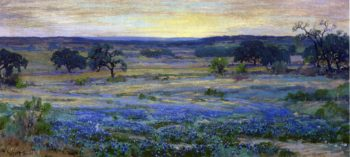 Bluebonnets at Dusk | Julian Onderdonk | oil painting