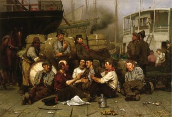The Longshoremens Noon | John George Brown | oil painting
