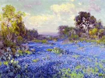Blue Bonnets at Late Afternoon | Julian Onderdonk | oil painting