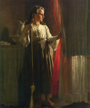 The Little Servant | John George Brown | oil painting