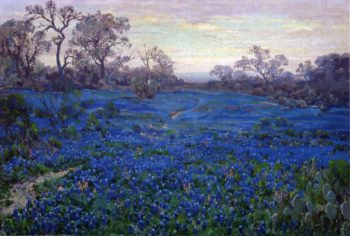 Bluebonnets at Twilight near San Antonio | Julian Onderdonk | oil painting