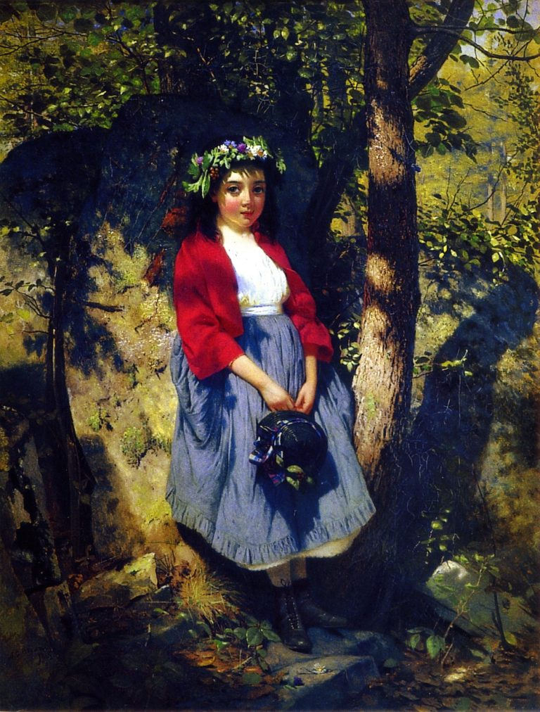 The Little Queen of the Woods | John George Brown | oil painting