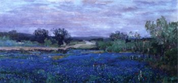 Blue Bonnets at Twilight | Julian Onderdonk | oil painting