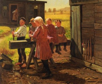 The Industrious Family | John George Brown | oil painting