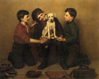 The Foundling | John George Brown | oil painting
