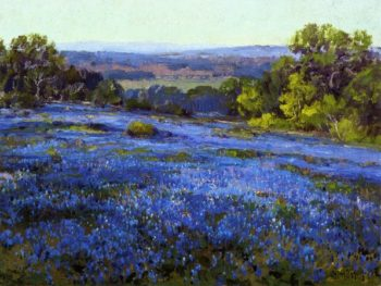 Bluebonnets Late Afternoon North of San Antonio | Julian Onderdonk | oil painting
