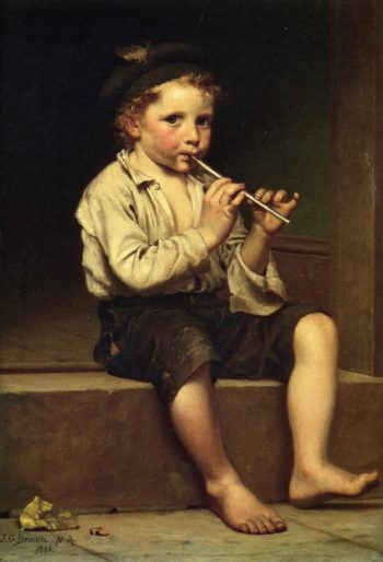 Rhythm | John George Brown | oil painting