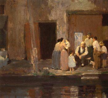 Near the Blacksmiths Shop | Robert Spencer | oil painting