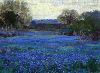 Bluebonnets on a Grey Day | Julian Onderdonk | oil painting