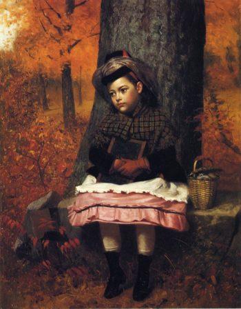School Bound | John George Brown | oil painting