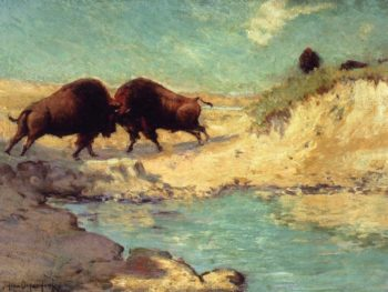 Buffalo Hunt | Julian Onderdonk | oil painting