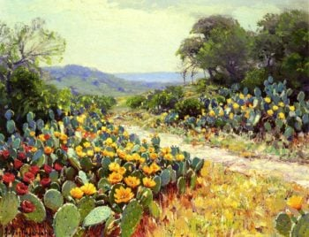 Cactus in Bloom | Julian Onderdonk | oil painting