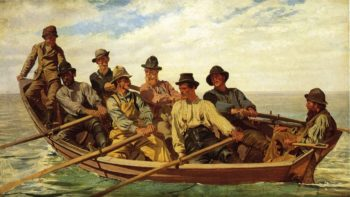 Pull for the Shore | John George Brown | oil painting