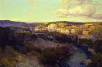 Cliffs on the Guadalupe | Julian Onderdonk | oil painting