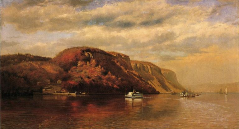 On the Hudson | John George Brown | oil painting