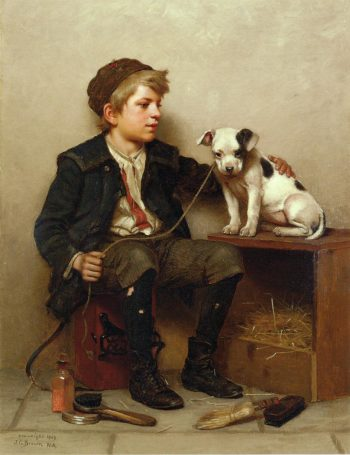 My Best Friend | John George Brown | oil painting