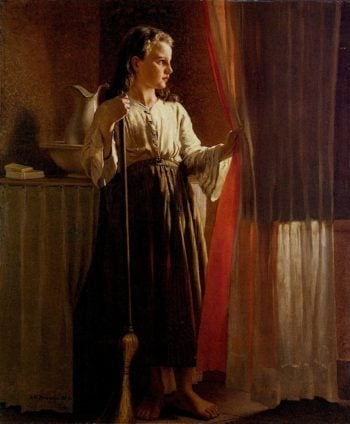 Little Servent | John George Brown | oil painting