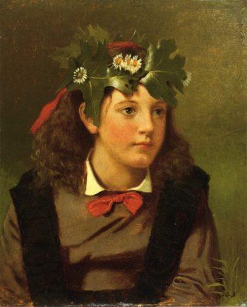 Little Miss Autumn | John George Brown | oil painting