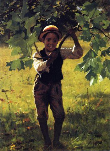 Howdy | John George Brown | oil painting