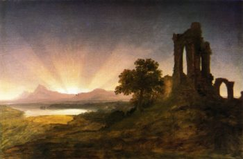 Gothic Ruins at Sunset | Thomas Cole | oil painting
