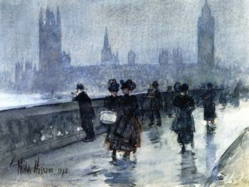 Westminster Bridge | Frederick Childe Hassam | oil painting