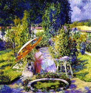 The Garden Umbrella | Frederick C Frieseke | oil painting