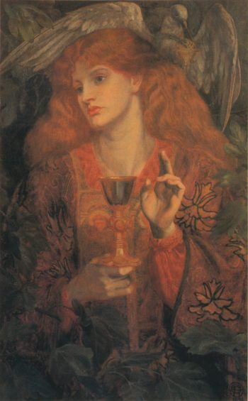 Damsel of the Sanct Grael | Dante Gabriel Rossetti | oil painting