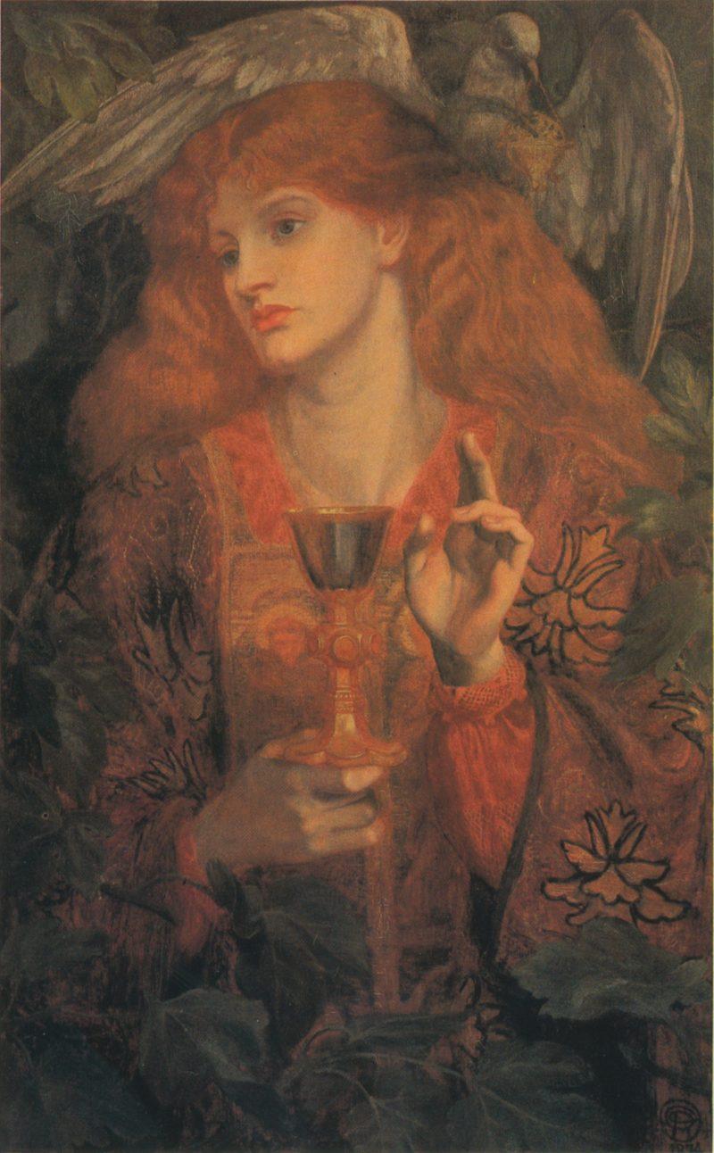 Damsel of the Sanct Grael   Dante Gabriel Rossetti   oil painting