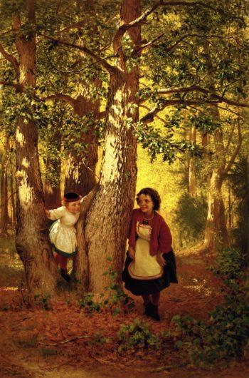 Hide and Seek | John George Brown | oil painting
