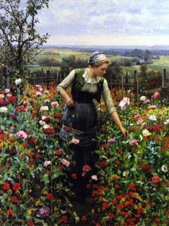 A July Morning | Daniel Ridgway Knight | oil painting