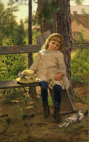 Golden Locks | John George Brown | oil painting