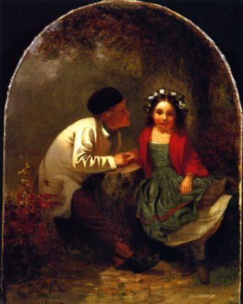 Early on the Stump | John George Brown | oil painting