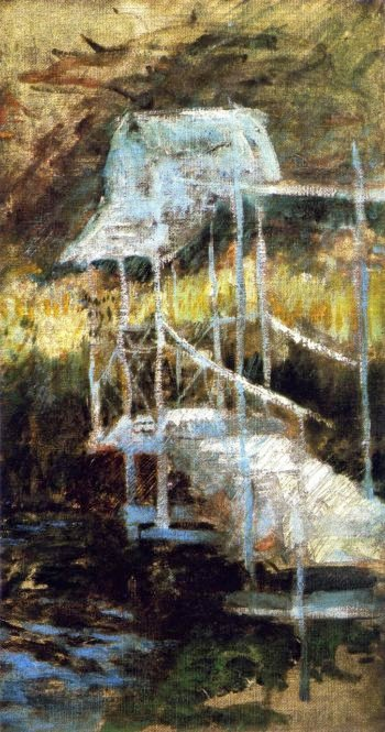 Bridge in the Woods | John Twachtman | oil painting