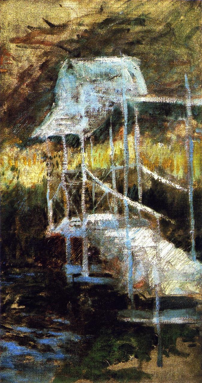 Bridge in the Woods | John Twachtman | oil painting