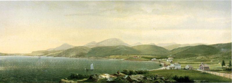 View of Camden Hills Maine   Harrison Bird Brown   oil painting