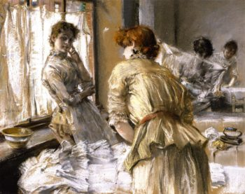 In the Laundry | Robert Frederick Blum | oil painting