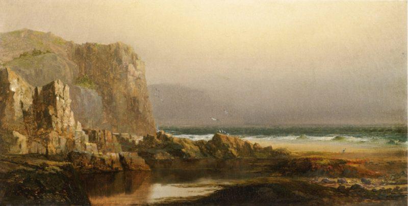 Frenchmans Bay Mount Desert   Harrison Bird Brown   oil painting