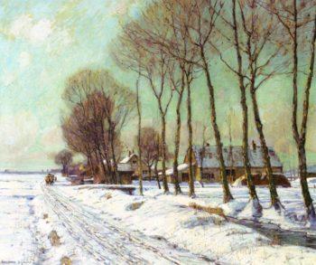 Snow Clad Fields in Morning Light | George Gardner Symons | oil painting