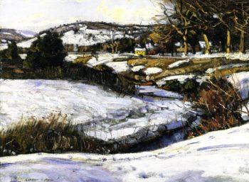 River Scene Winter | George Gardner Symons | oil painting