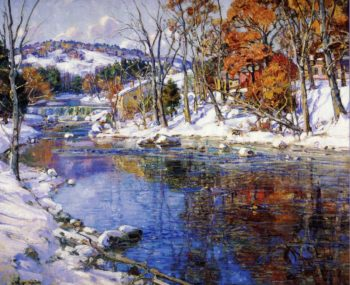The First Snowfall | George Gardner Symons | oil painting
