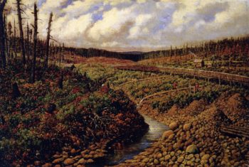 Sluicing for Gold British Columbia | William George Richardson Hind | oil painting