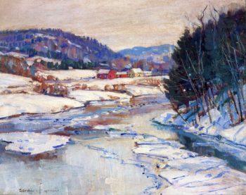 River in Winter | George Gardner Symons | oil painting
