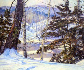 River Bank with Snow | George Gardner Symons | oil painting