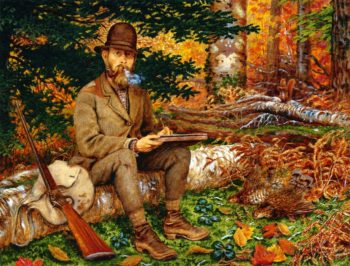 Self Portrait in Hunting Gear | William George Richardson Hind | oil painting