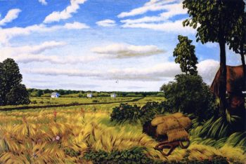 Roadside Scene with Three Houses and Figure Manitoba | William George Richardson Hind | oil painting