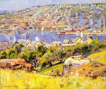 Fishing Village St Ives | George Gardner Symons | oil painting