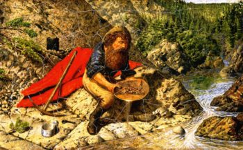 Prospecting for Alluvial Gold in British Columbia | William George Richardson Hind | oil painting
